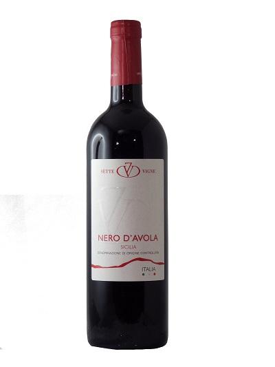 Vino Nero d'Avola  Sette Vigne di Ferreri e Bianco