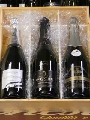 cassetta regalo champagne